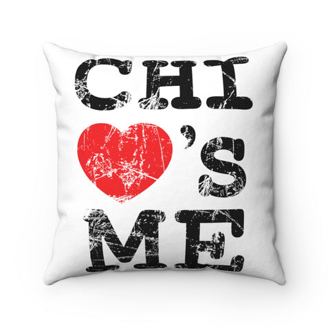 Image of Chi Loves Me Spun Polyester Square Pillow