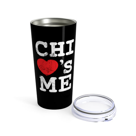 Image of Chi Loves Me Tumbler 20oz Black