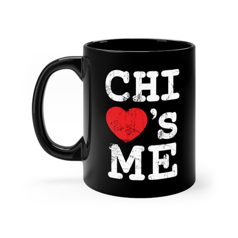 Signature Chi Loves Me Black mug 11oz
