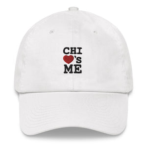 Signature Chi Loves Me White Dad hat