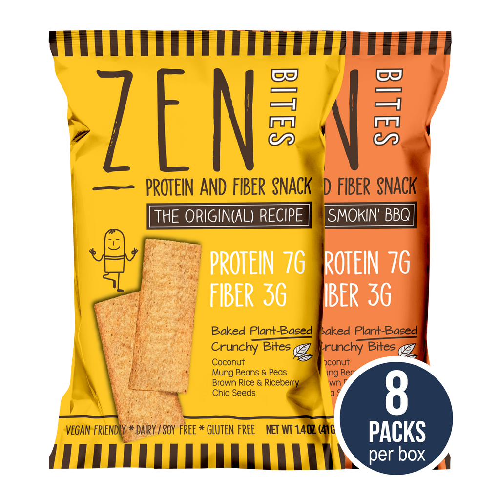 ZenBites Combo (Box of 8 Regular Packs, 41g / pack)