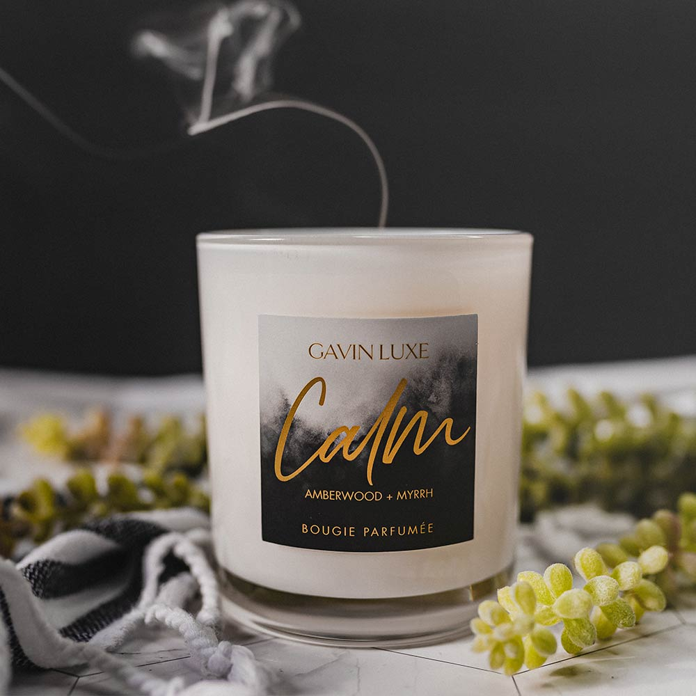 Calm - Amberwood + Myrrh Candle - 12 OZ