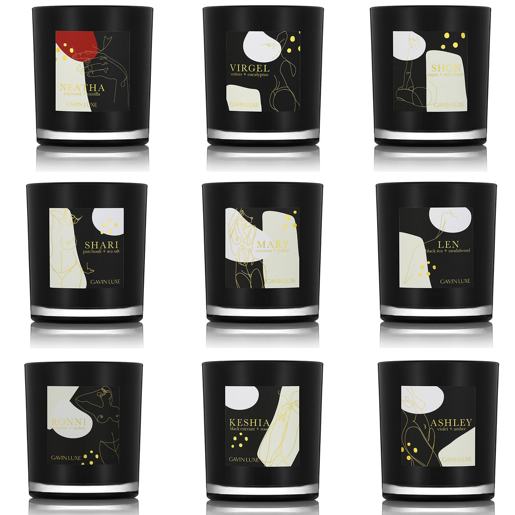 Candle Collection Set of 9 + Cheer Holiday Candle