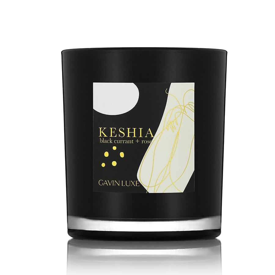 Keshia - Black Currant + Rose Candle