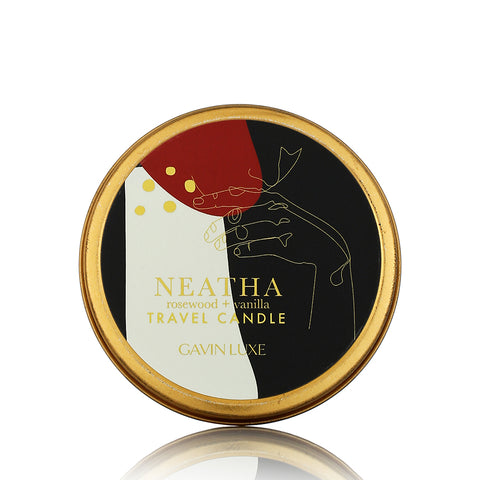 Neatha - Rosewood + Vanilla  Travel Candle