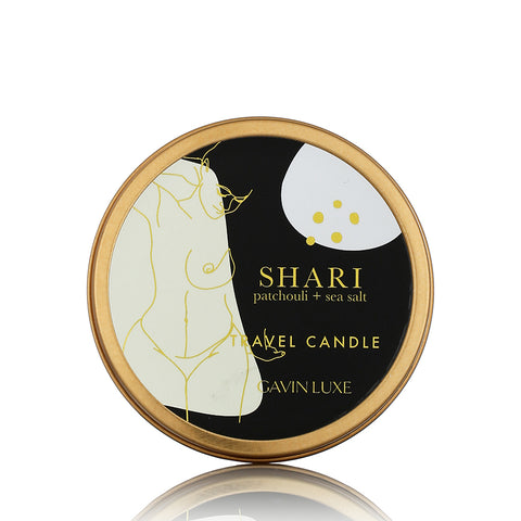 Shari - Patchouli + Sea Salt Travel Candle