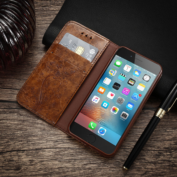 Leather Wallet & Mobile Case For iPhone 7Plus, 7, 6Plus, 6s 6, 5s, 5, & 5SE.
