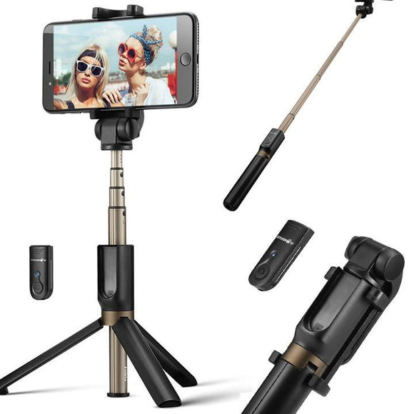 Versatile 3 in 1: More than your usual selfie stick, the BS3 is a versatile mini tripod