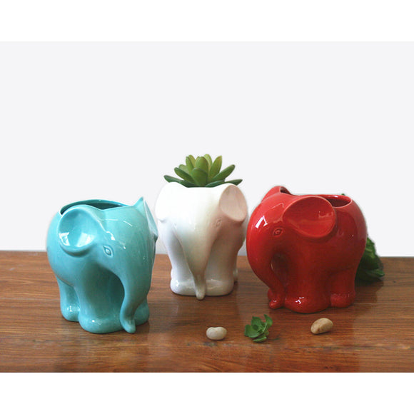 Elephant Ceramic Planter for Succulents