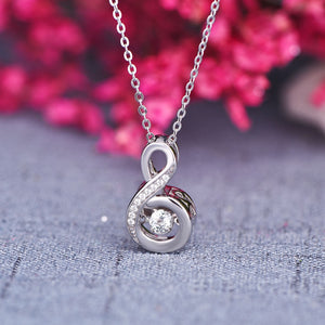 Infinity Necklaces with Dancing Stone