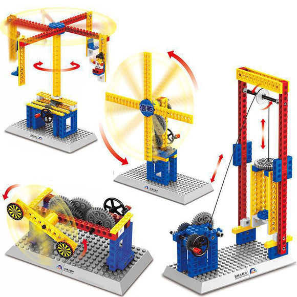 Mechanical Engineering Building Blocks For Kids, 3 IN1