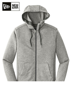 New Era Zip Hoodie Grey