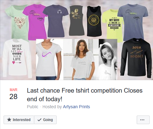 Our First Competition for a Free T-Shirt