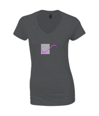 Ladies T-Shirt on Black with simple logo saying