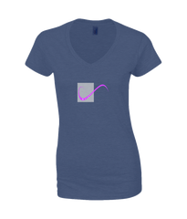 Ladies T-Shirt on Navy with simple logo saying