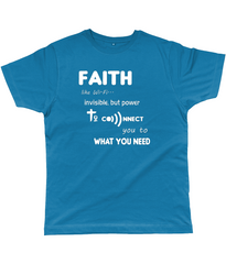 Faith Like Wifi Funny Christian Quote on a Unisex Deep Teal T-Shirt