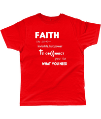Faith Like Wifi Funny Christian Quote on a Unisex Red T-Shirt