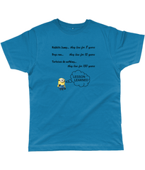Secret of Living for 150 years on Unisex T-Shirts in deep teal