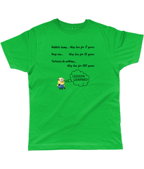 Secret of Living for 150 years on Unisex T-Shirts in bright green