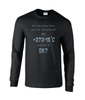 Cool to -273'C - Gents Ultra Cotton Long Sleeved T-Shirt