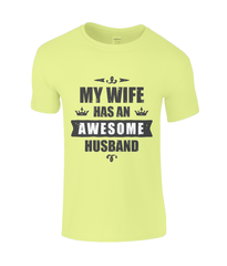 Awesome Husband - SoftStyle Gents T-Shirt