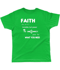Faith Like Wifi Funny Christian Quote on a Unisex Bright Green T-Shirt