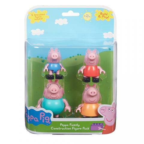 Peppa Pig Construction - Family Pack Figures