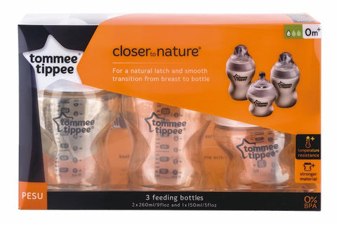 Tommee Tippee 香港 Closer to Nature PESU 奶瓶套裝  PESU Set