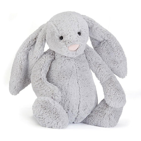 英国Jellycat 香港毛公仔優惠 Bashful Silver Bunny Really Big