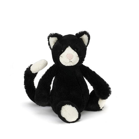 英国Jellycat HK Sale Bashful Black & White Kitten Medium