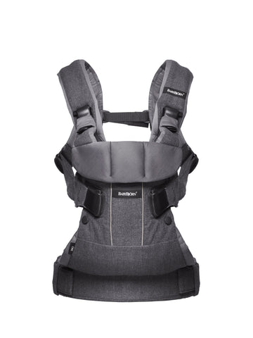 BabyBjorn HK Baby Carrier One Cotton Denim Grey/Dark Grey