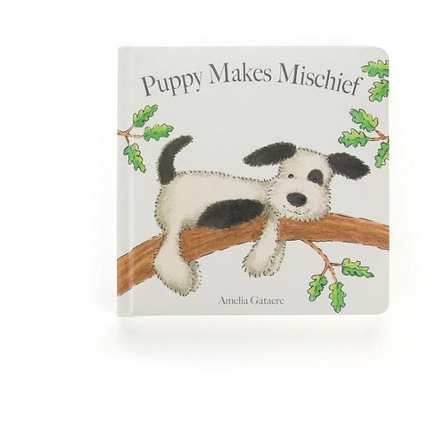 英国Jellycat 香港毛公仔優惠 Puppy Makes Mischief Book
