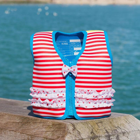 Konfidence Jacket Red Stripe Ruffle 4 to 5 years