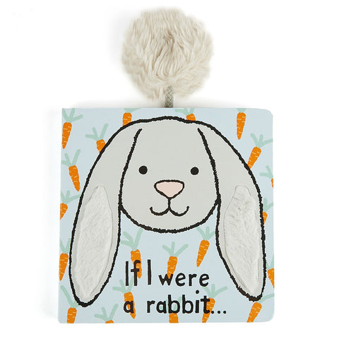 英国Jellycat If I Were A Rabbit Board Book Silver