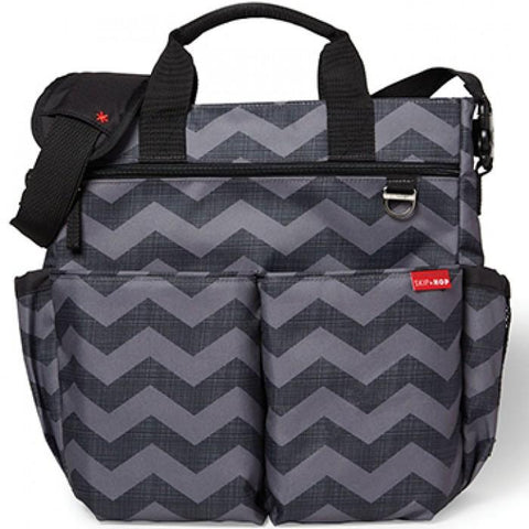 Skip Hop 香港 Sale Duo Signature Diaper Bag Tonal Chevron