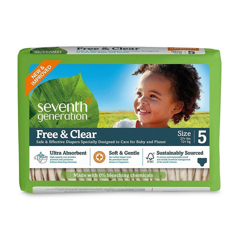 Seventh Generation Diaper Stage 5 for 27+ lbs