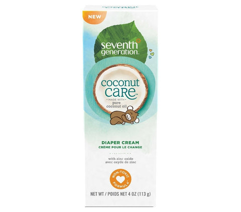 Seventh Generation Baby Diaper Cream Tube Coconut Care 4oz [C12]