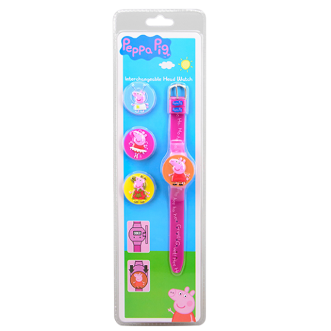 Peppa Pig Interchangeable Head Watch Peppa