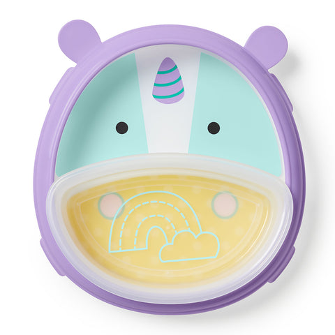 Skip Hop Zoo Smart Serve Plate & Bowl - Unicorn