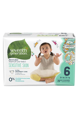 Seventh Generation Baby Diapers Stage 6, 20ct (35+ lbs) [C4]