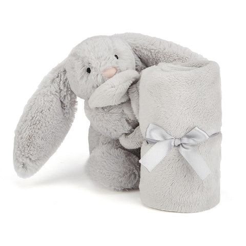 Jellycat HK Sale Bashful Silver Bunny Soother