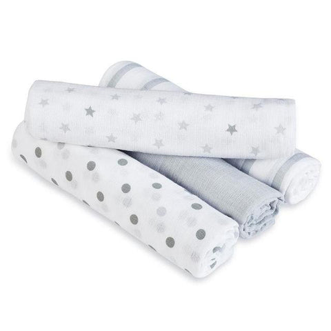 Aden Anais 香港限定優惠  Swaddle Plus Dove 4 Pack
