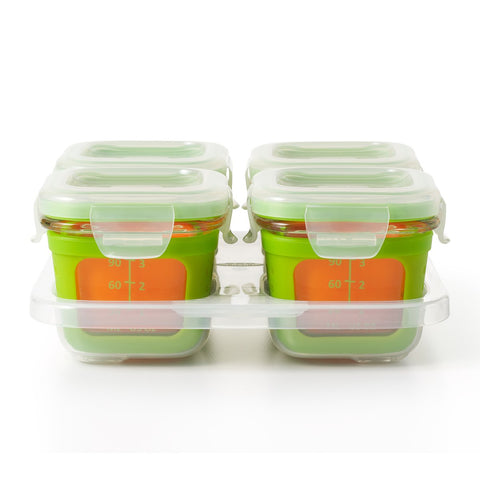 Oxo HK Sale Oxo Tot Glass Baby Blocks 4 Oz - Green