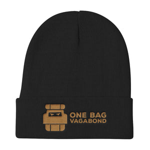 One Bag Vagabond Brown logo Beanie