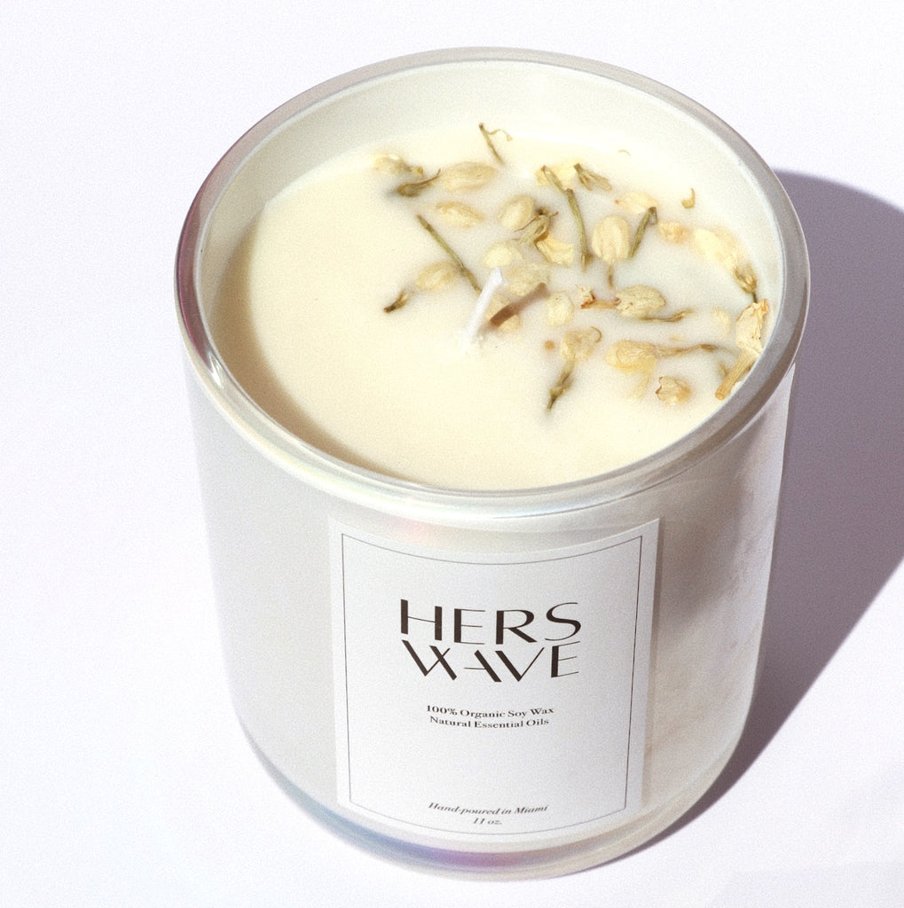 Premium 100% Organic Soy Wax Candle with Essential Oils Shop Hers Wave