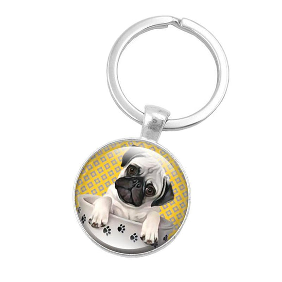 Cute Pug Key Chain