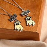 Best Friends Pug Necklace