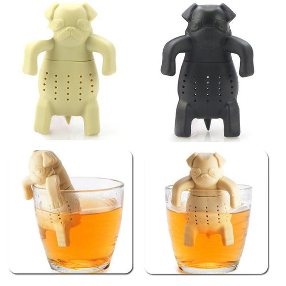 Pug Inspired Silicone Tea Strainer