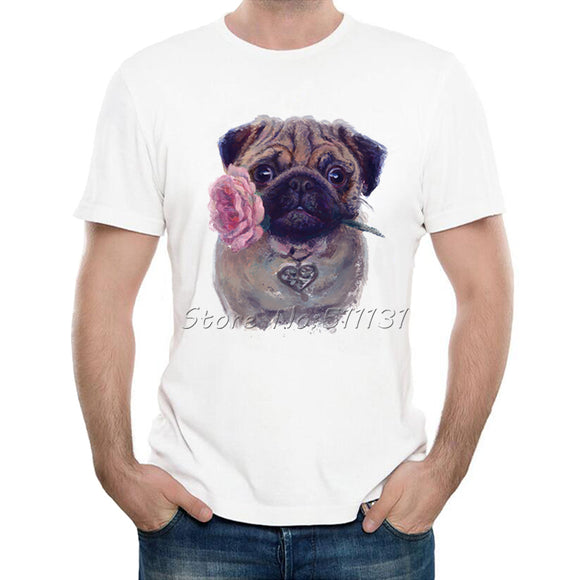 Pug And A Rose T-Shirt