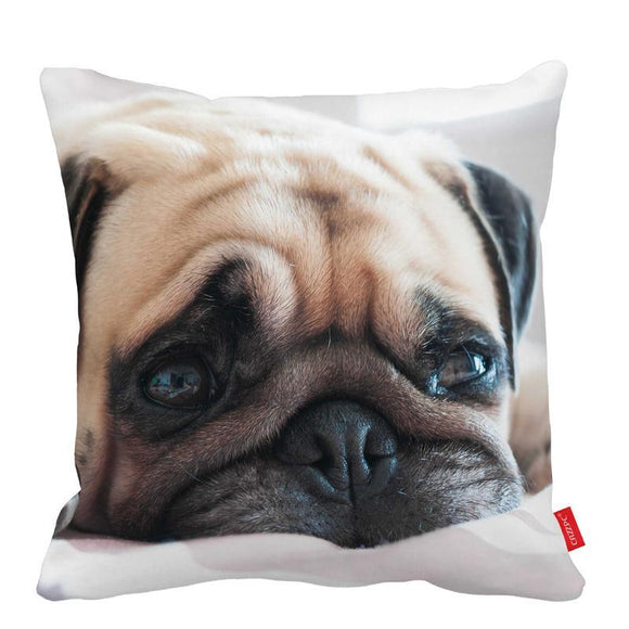 Adorable Pug Cotton Pillow Case